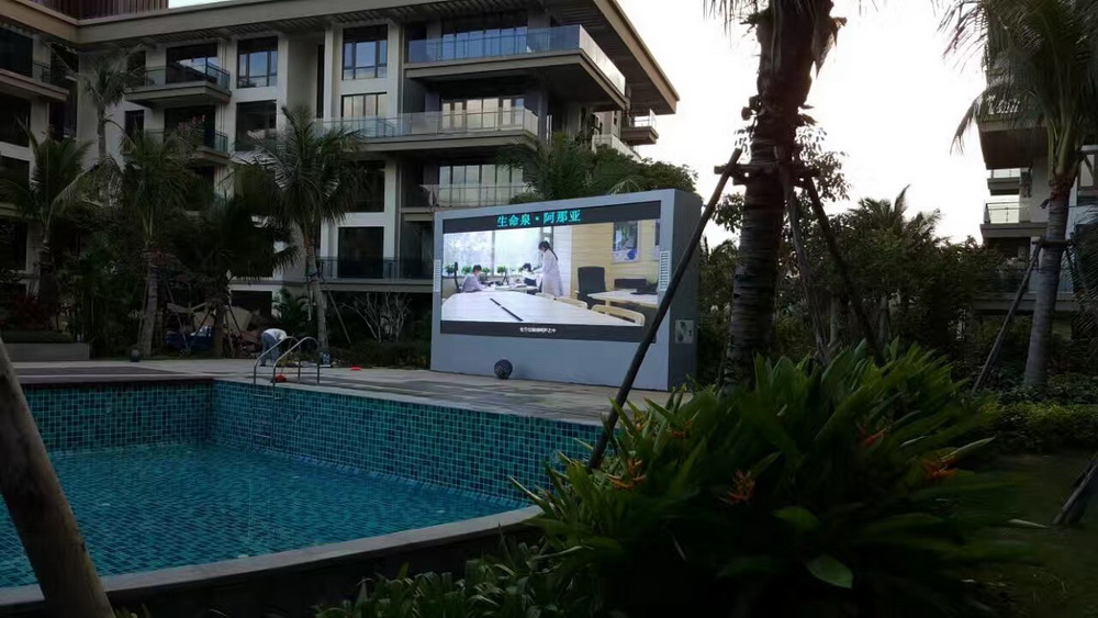 三亚市亚龙湾生命泉P5户外LED全彩显示屏制作安装项目